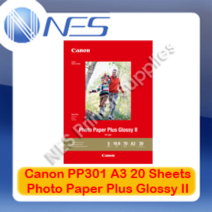 Canon PP-301 A3 Photo Paper Plus Glossy II 20 Sheets 265GSM for IX6860/IP8760